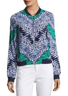 Laundry By Shelli Segal Leaf-Print Bomber Jacket