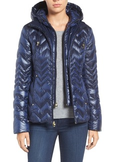 Laundry by Shelli Segal Lightweight Down Jacket with Inset Hooded Bib