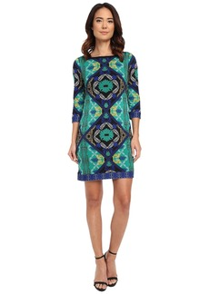 Laundry by Shelli Segal Lotus Blossom Double Border' Matte Jersey T-Body Dress
