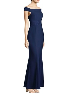 Laundry by Shelli Segal Matte Crepe Mermaid Gown