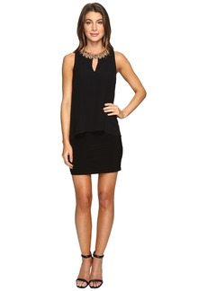 Laundry by Shelli Segal Matte Jersey Popover Cocktail Dress