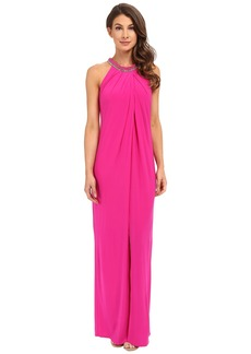 Laundry by Shelli Segal Matte Jersey Sleeveless Gown