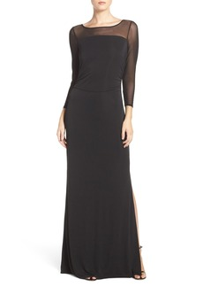 Laundry by Shelli Segal Mesh & Jersey Gown