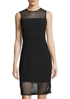 Laundry By Shelli Segal Mesh-Inset Sleeveless Dress