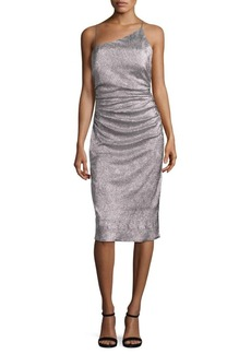 Laundry by Shelli Segal Metallic Asymmetric Dress