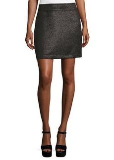 Laundry By Shelli Segal Metallic Jacquard Mini Skirt
