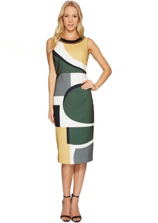 Laundry by Shelli Segal Midi Dress with Cut Out Back Detail