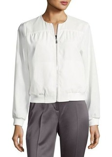 Laundry By Shelli Segal Mixed-Media Bomber Jacket