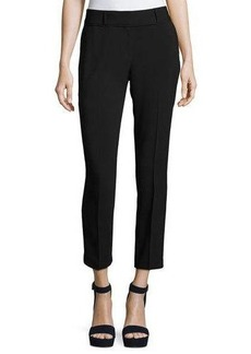 Laundry By Shelli Segal Mixed-Media Slim Ankle Pants