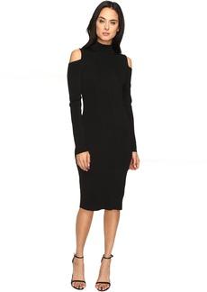 Laundry by Shelli Segal Mock Neck Cold Shoulder Sweater Dress