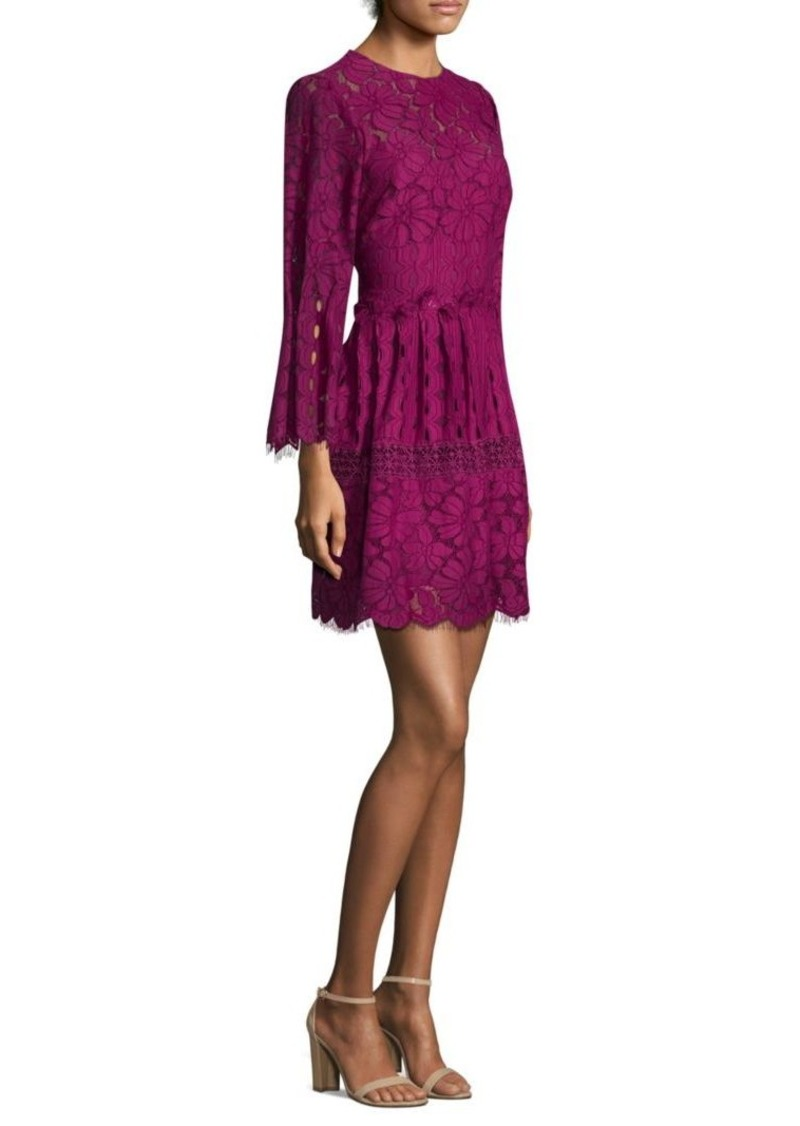 Laundry by Shelli Segal Mock Neck Floral A-Line Dress