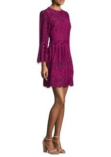 Laundry by Shelli Segal Mock Neck Floral A-Line Dress