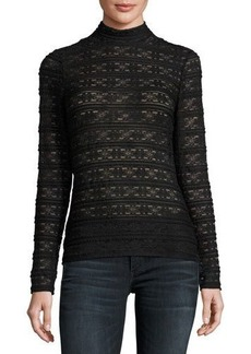 Laundry By Shelli Segal Mock-Neck Lace Top