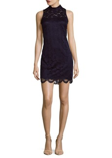 Laundry by Shelli Segal Mockneck A-Line Dress