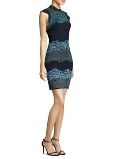 Laundry by Shelli Segal Mockneck Lace Dress