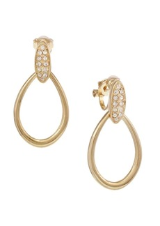 Laundry by Shelli Segal Montebello Goldtone and Pavé Crystal Teardrop Earrings