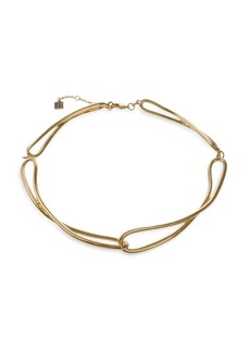 Laundry by Shelli Segal Montebello Goldtone Link Collar Necklace