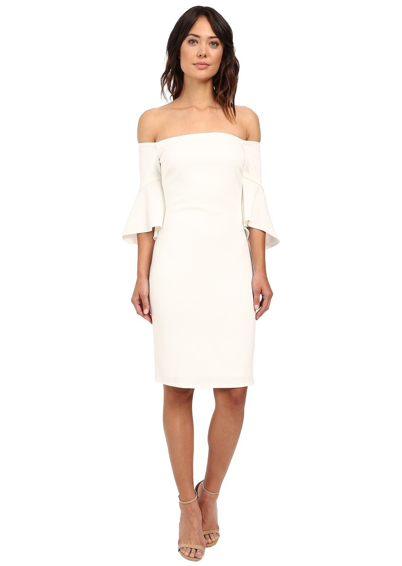 Laundry by Shelli Segal Montreal Stretch Crepe Off the Shoulder Cocktail