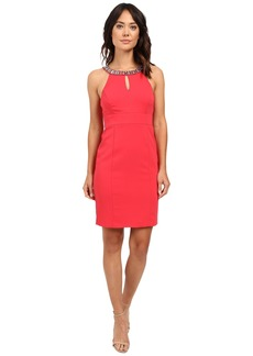 Laundry by Shelli Segal Montreal Stretch Embellished Neck Cutaway Cocktail Dress