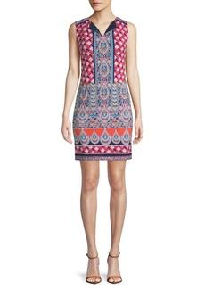 Mosaic-Print Shift Dress