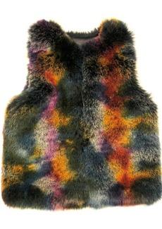 Laundry by Shelli Segal Multi Colorful Faux Fur Vest