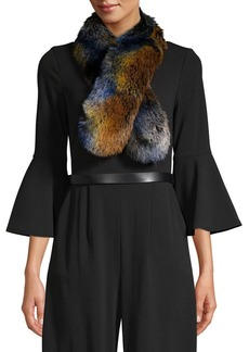 Laundry by Shelli Segal Multi-Tone Faux Fur Scarf