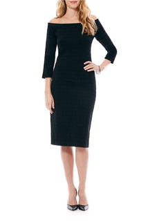 LAUNDRY BY SHELLI SEGAL Off-The-Shoulder Bandage Body Con Sweater Dress
