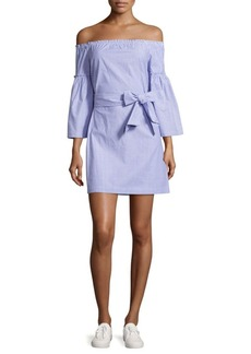 Laundry by Shelli Segal Off-the-Shoulder Cotton Chambray Dress