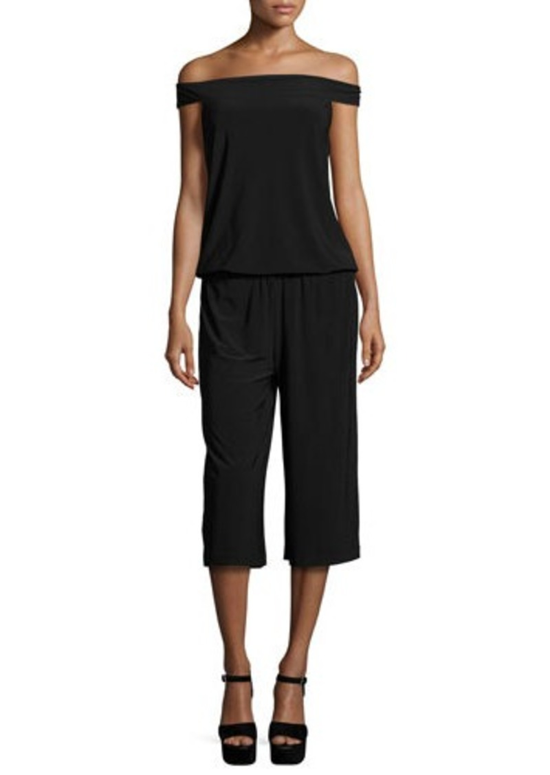 Laundry By Shelli Segal Off-The-Shoulder Culotte Jumpsuit