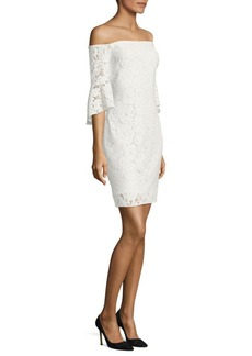Laundry by Shelli Segal Off-the-Shoulder Floral Lace Dress