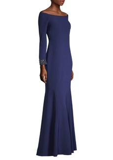 Laundry by Shelli Segal Off-The-Shoulder Gown