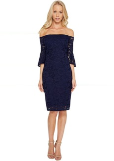 Laundry by Shelli Segal Off the Shoulder Lace Dress