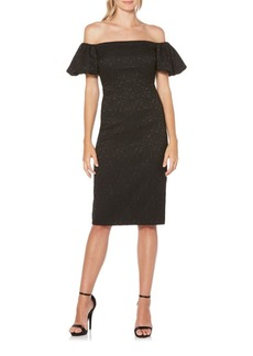 Laundry by Shelli Segal Off-the-Shoulder Midi Dress