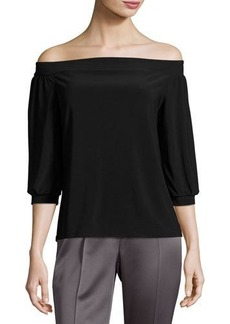 Laundry By Shelli Segal Off-the-Shoulder Peasant Top
