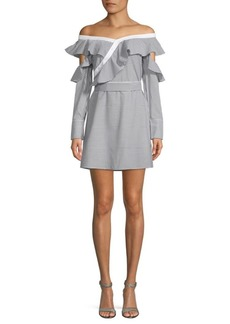 Laundry by Shelli Segal Off-The-Shoulder Ruffle Fit-&-Flare Dress