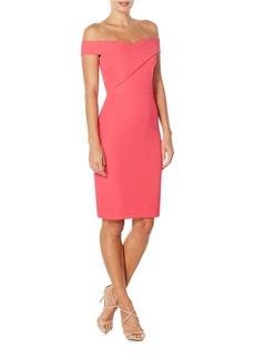 LAUNDRY BY SHELLI SEGAL Off-The-Shoulder Sheath Dress