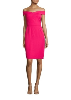 Laundry by Shelli Segal Off-The-Shoulder Sheath Dress