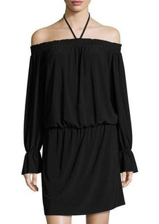 Laundry By Shelli Segal Off-the-Shoulder Smocked Blouson Dress