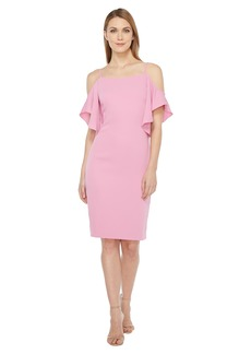 Laundry by Shelli Segal Off the Shoulder w/ Flutter Sleeve Cocktail Dress