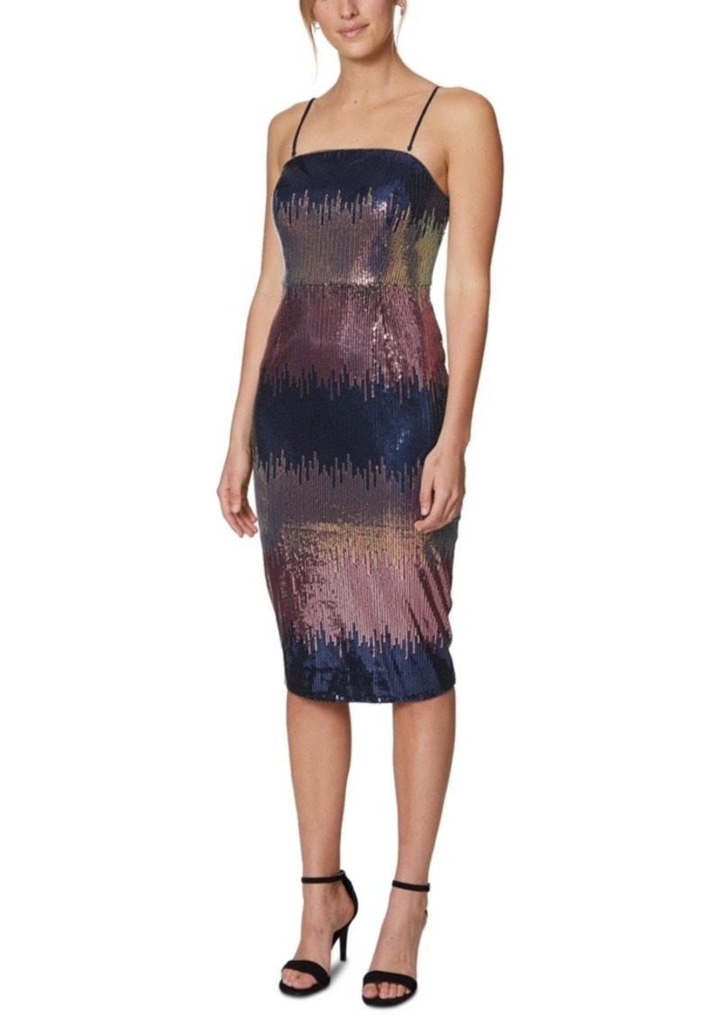 Laundry by Shelli Segal Ombre Sequin Midi Dress