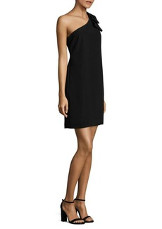 Laundry by Shelli Segal One-Shoulder Bow-Detailed Dress