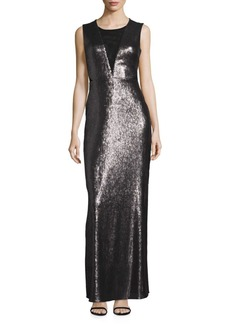 Laundry by Shelli Segal Open Back Sequin Gown