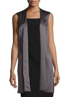 Laundry By Shelli Segal Open-Front Satin Vest