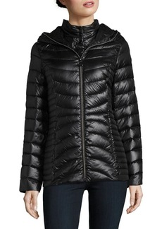 Laundry by Shelli Segal Packable Hooded Puffer Coat