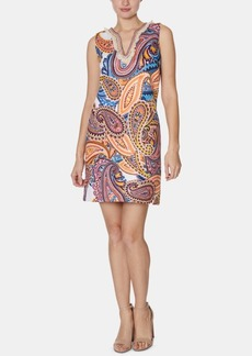 Laundry by Shelli Segal Paisley-Print Fringed Shift Dress