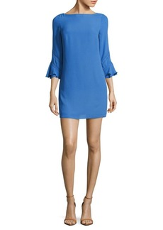 Laundry by Shelli Segal Palace Solid Bell-Sleeve Dress