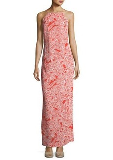 Laundry By Shelli Segal Palm Leaf-Print Maxi Sun Dress