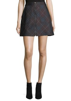 Laundry By Shelli Segal Paper Plaid Ponté Skirt