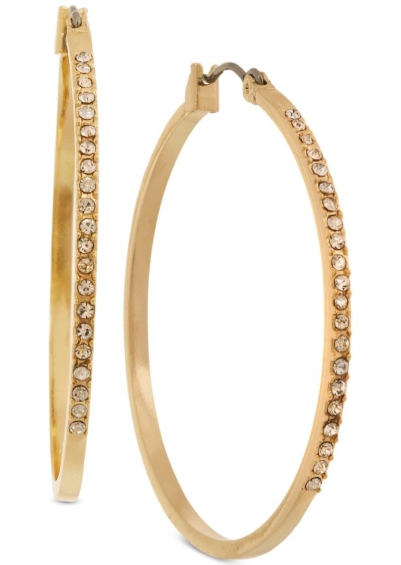 Laundry by Shelli Segal Pave Medium Hoop Earrings