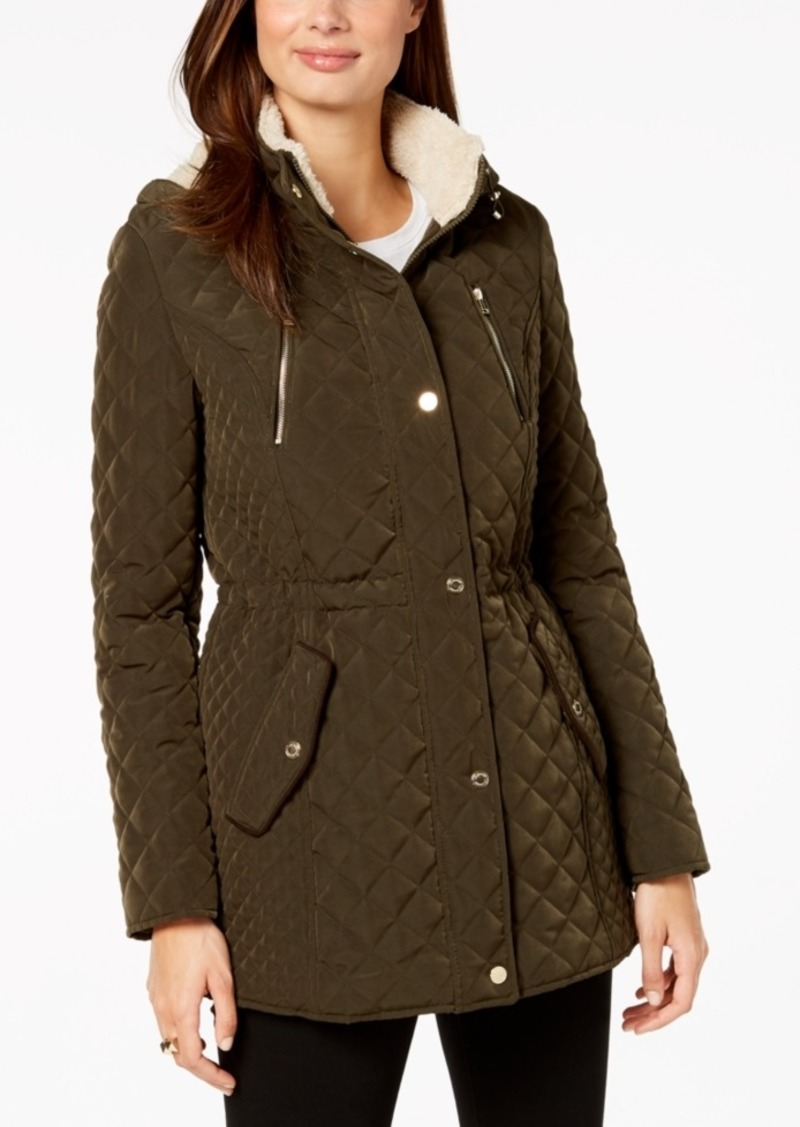 Laundry by Shelli Segal Petite Fleece-Lined Quilted Coat